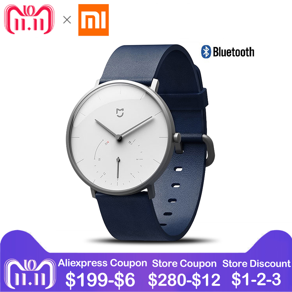Xiaomi Mijia Quartz Smartwatch VIP Call & Intelligent Vibration Reminder Pedometer 3ATM Water Resistant Smart Quartz Watch Men цены онлайн