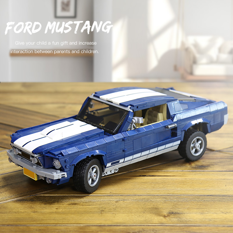Forded Mustanged Creator Expert Technic Building Blocks Toys Bricks Compatible Legoing 10265 classic Assembled car Children giftForded Mustanged Creator Expert Technic Building Blocks Toys Bricks Compatible Legoing 10265 classic Assembled car Children gift