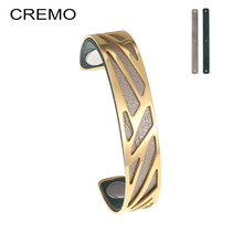 Cremo Bracelets & Bangles Women Ribbon Bracelet Jonc Femme Bijoux Interchangeable Cuff Leather Bangle Manchette Mrm Bracelet