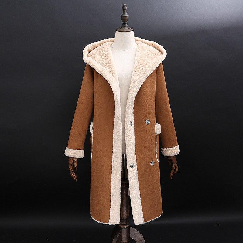 Искусственная pelzmantel Женская Корейская версия из меха пальто осень и зима Для женщин меха один мех пальто длинная куртка с секциями Кепки ол... - 2