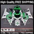 8Gift+ For SUZUKI GSXR 1000 2000 2001 2002 86JK150 GSX R1000 Lucky Strike K2 GSX-R1000 GSXR1000 00 01 02 00-02 Fairing Green