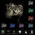 Motorcycles USB 3D LED Table Lamp Remote Touch Night Light 7 Colors Changing Sleeping Lampe Light Motor Lamps For Gifts