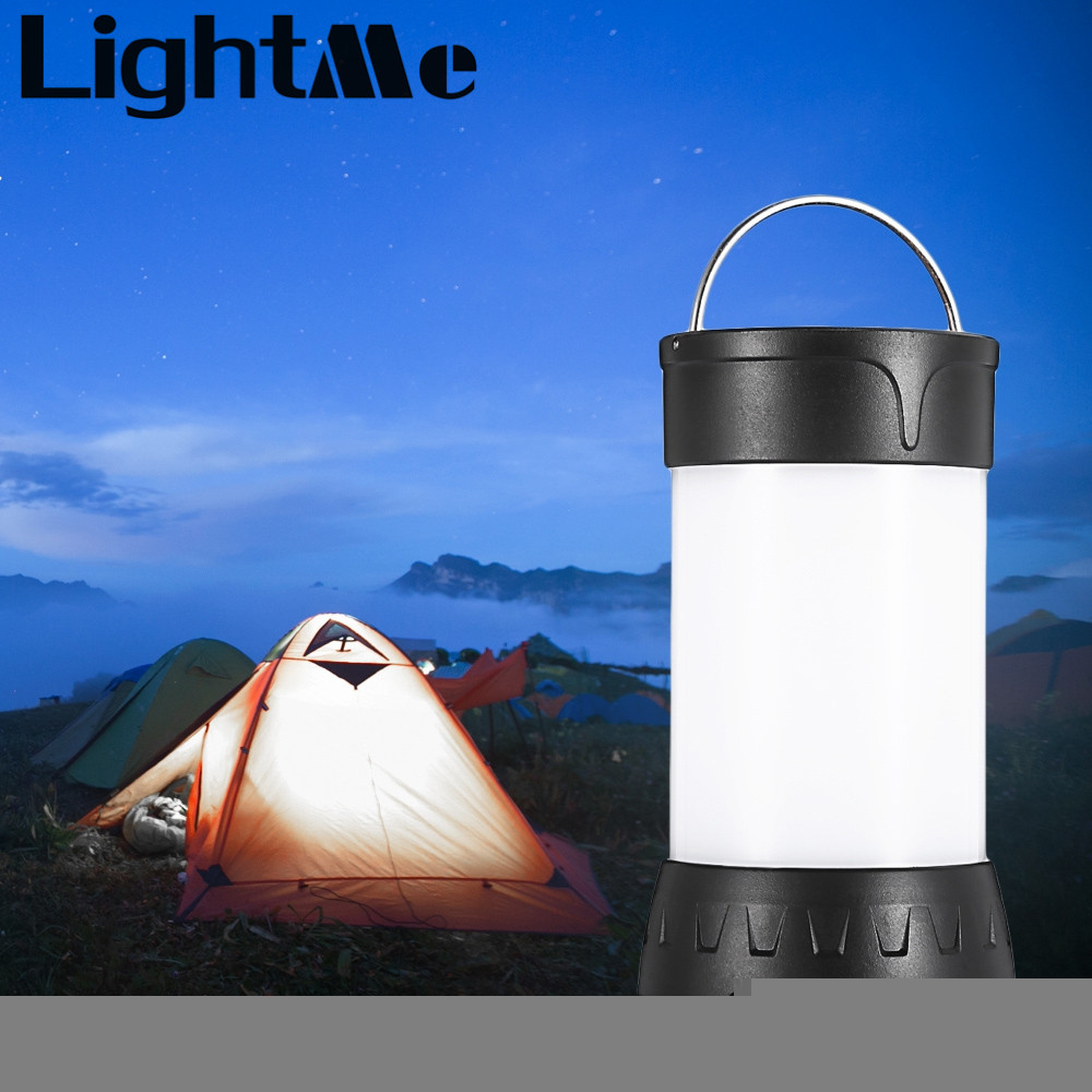 2017 New Premium Portable 5W IPX6 Waterproof Camping Lamp Emergency Light Rechargeable Battery ABS + aluminum alloy