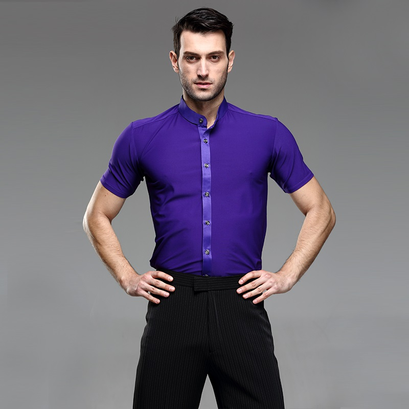 Picture of Mens Dancing Shirts Mens Latin Shirt Mens Ballroom Shirts Mens Latin Dance Costumes Dance Top Mens Ballroom Clothes Dancewear