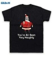 GILDAN 100 Cotton O Neck Printed T Shirt T Shirt Robot Santa You Ve All Been