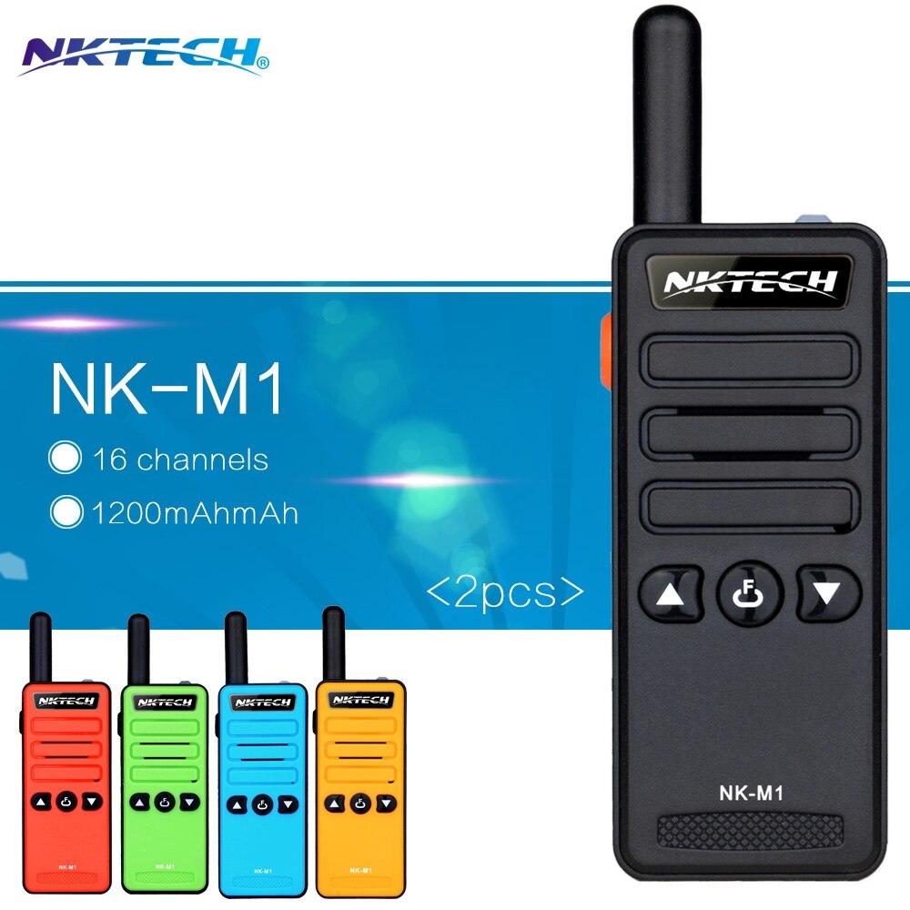 imágenes para 2 UNIDS Mini Walkie-talkie NK-M1 modelo de Frecuencia de Radio Portátil Súper Pequeño de Mano receptor de FM profesional