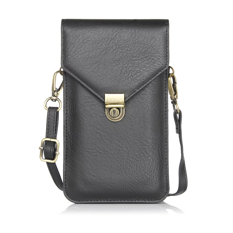 Universal Many Models Leather Cell Phone Bag Shoulder Pocket Wallet Pouch Case For IPhone X 7 8 Samsung S9 S8 Huawei Xiaomi LG