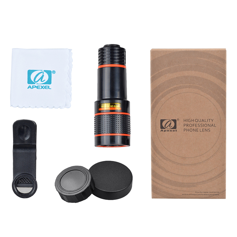 17 12X Zoom Phone lens Universal Telephoto Camera Lens with tripod holder for iPhone Samsung Xiaomi HTC HUAWEI lens APL-HS12X 14