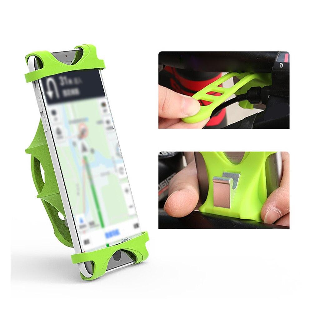 4~6.0 inch Soft Silicon Bicycle Phone Holder Upgraded MTB Bike Holder Stand Adjustable Phone Handlebar Clip GPS Mount Bracket
