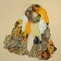 Из индии горячая 2017 новый печати шифон шарфы женщина тонкий платок тюрбан пояс оптовая хиджаб моды арабский шарфы обернуть