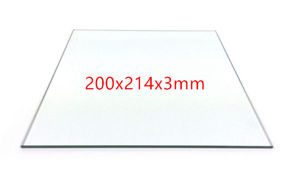 200*214*3mm Print Table Glass for Reprap 3D Printer MK heating bed Borosilicate Glass plate Rectangular shape Smooth plate