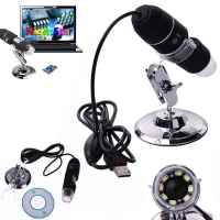 AIR00179 2MP 1000X 8 LED USB Digital Microscope Endoscope Zoom Camera Magnifier Stand
