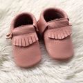 Light Pink Genuine Leather Girl Baby Moccasins