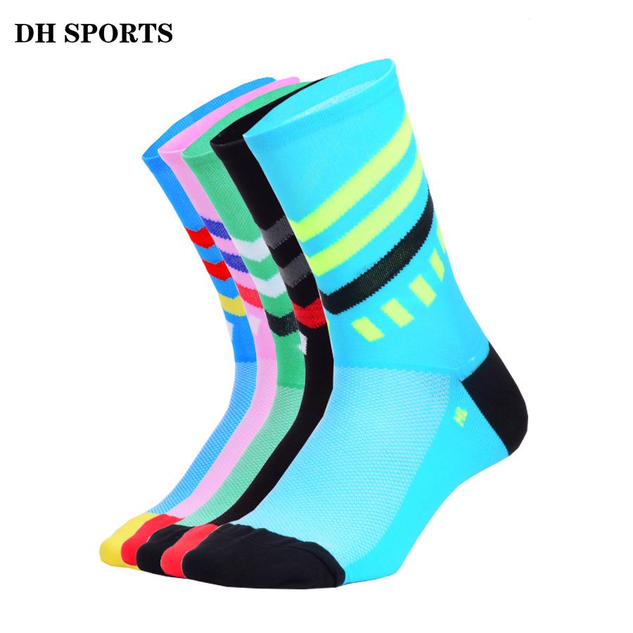 DH SPORTS New Cycling Socks Men Women Outdoor Road Bicycle Bike Socks Brand Running Compression Socks Cycling Equipments
