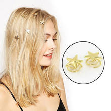 Hot sale 1PC Star Gold Hair Clips Delicate Swirl Hairpins Lovely Barrettes Women's Hair Accessories New Arrival(China)