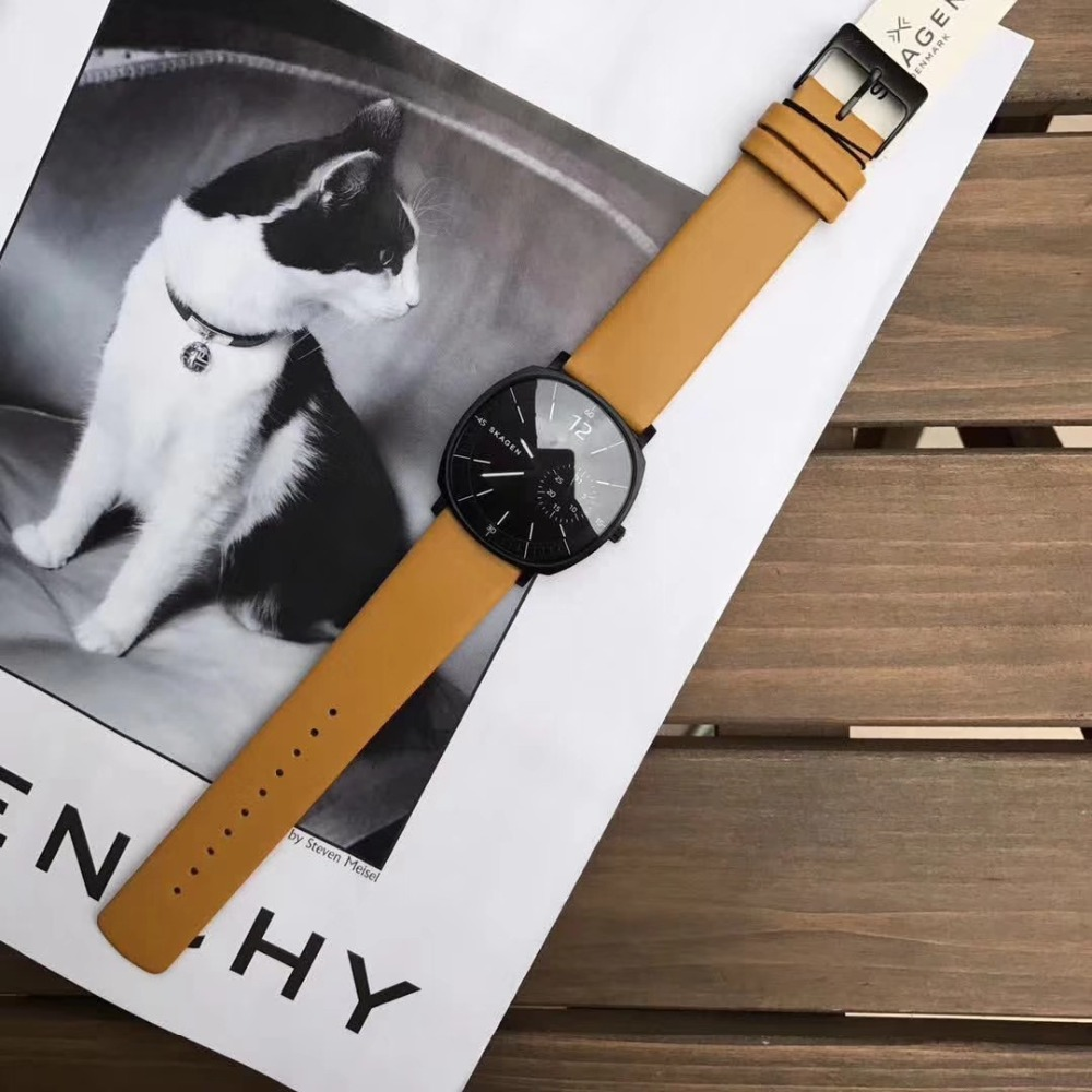 Fashion ladies wrist watches Womens clock Round leather strap wrist watch for women ladies wrist watches couple fashion fashionable verycomfortable wearing nylon strap analog quartz round wrist watch watches women clock reloj