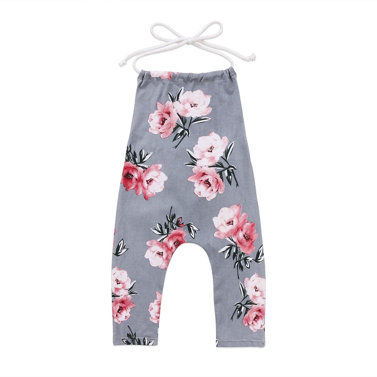Lovely Newborn Toddler Baby Girl Floral Printed Halter Romper Jumpsuit Sleeveless Backless Summer Kids Girl Sunsuit Romper