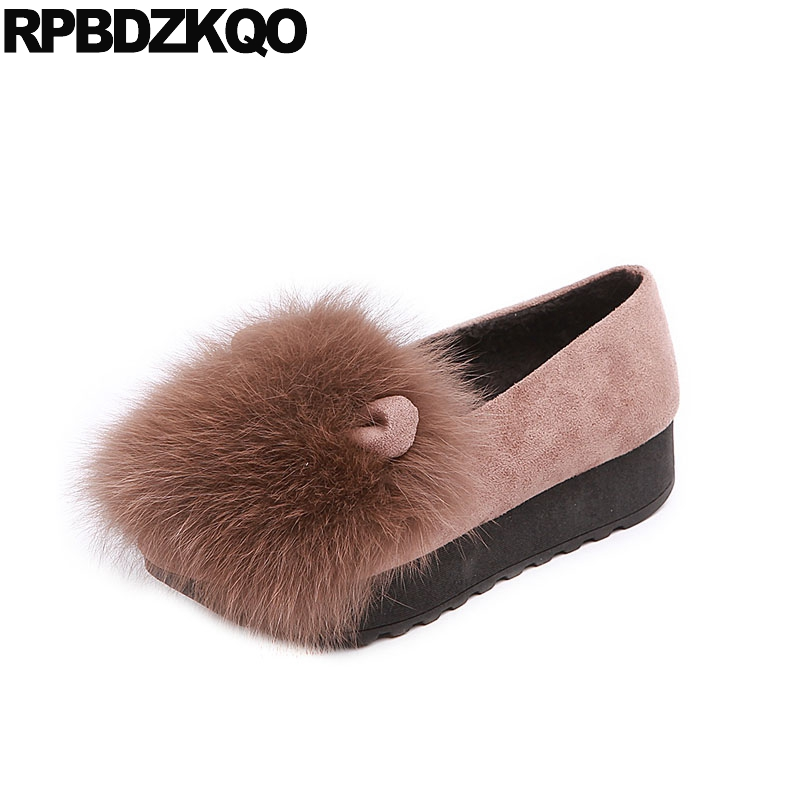 chinese creepers fur elevator muffin designer shoes women luxury 2018 suede winter platform rabbit round toe thick sole slip onchinese creepers fur elevator muffin designer shoes women luxury 2018 suede winter platform rabbit round toe thick sole slip on