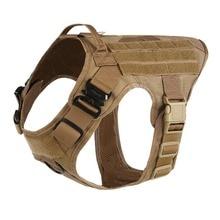 Arnés Modular táctico militar para perros sin tirón Clip frontal aplicación de la Ley K9 trabajo Cannie Molle Chaleco de caza