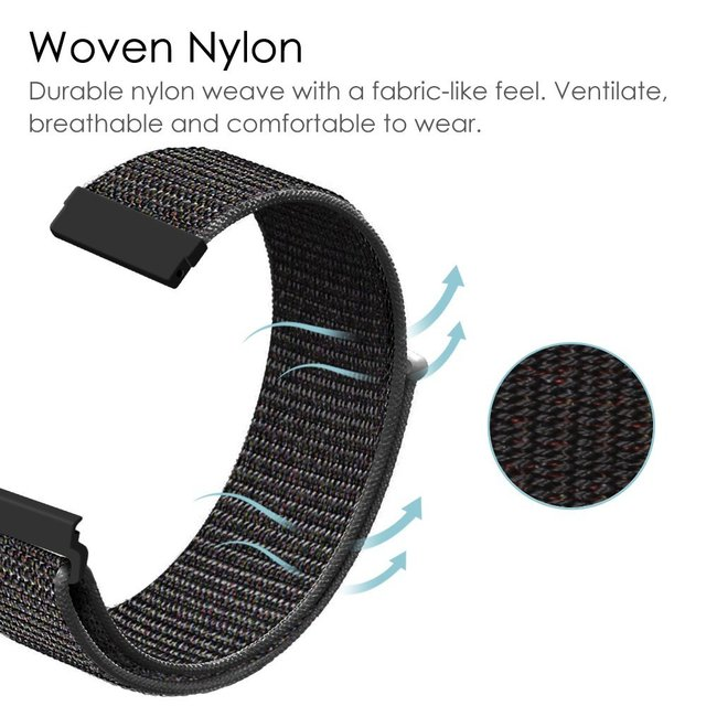 Nylon Watch Strap For Samsung Galaxy 42/46mm Gear S3/sport/S2 Classic 22 20mm  Watchband nylon Sport Loop Band