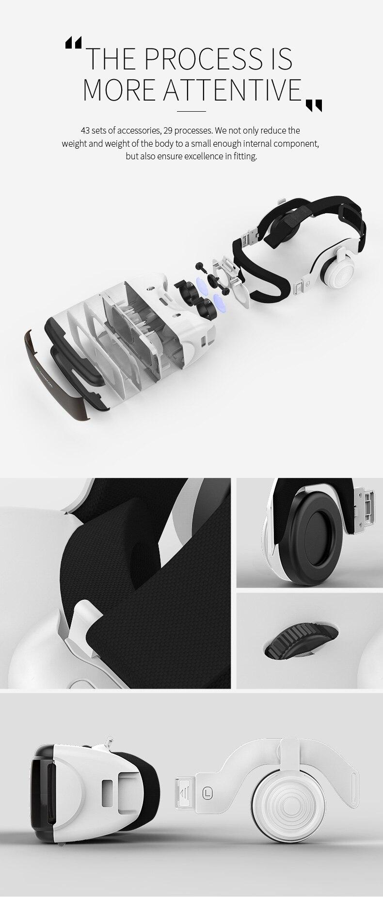 VR SHINECON BOX 5 Mini VR Glasses 3D G 06E Glasses Virtual Reality Glasses VR Headset For Google cardboard with headphone
