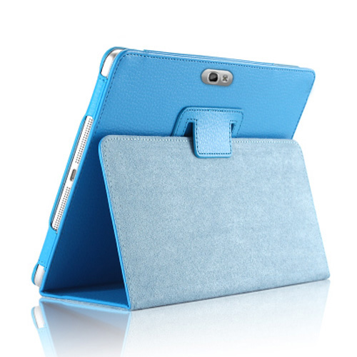 Slim Retro Folding Stand PU Leather Smart Cover for <font><b>Samsung</b></font> Galaxy Note 10.1 2012 <font><b>GT</b></font> N8000 N8010 N8020 Pencil Holder Tablet Case image