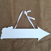 Wooden Wedding Reception Direction Arrow