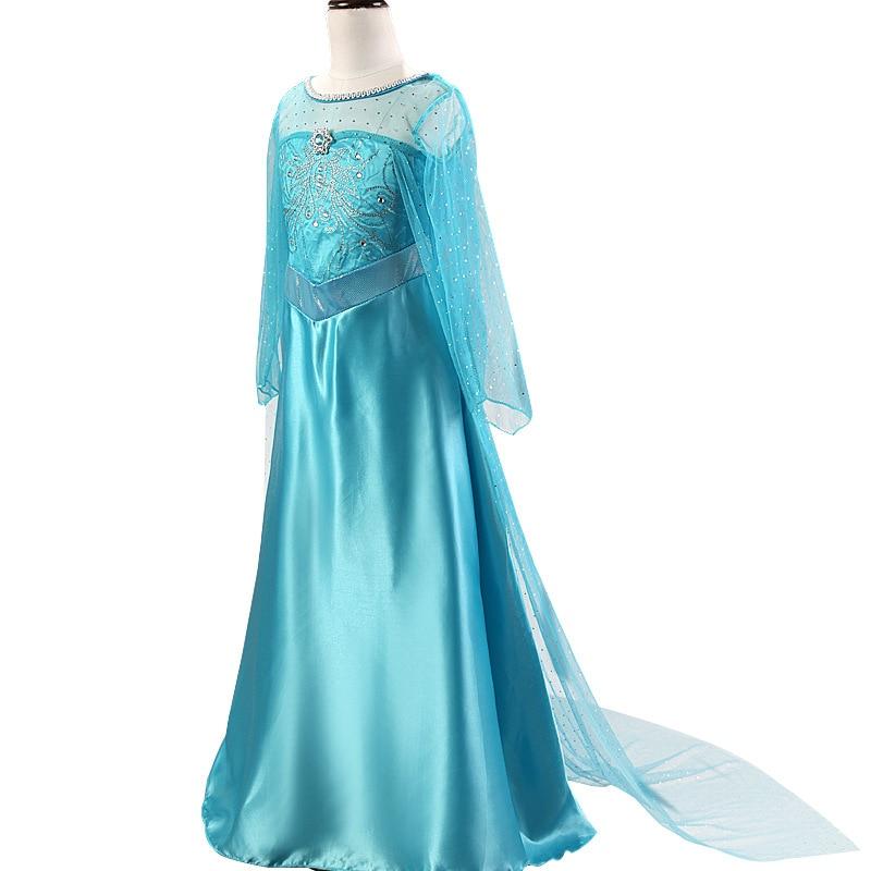 HTB10QA5bdfvK1RjSszhq6AcGFXav 2019 New Elsa Dress Girls Summer Dress Princess Anna Cosplay Costume Dresses For Girl Princess Vestidos Menina
