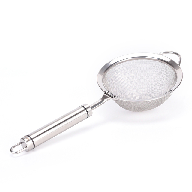 kitchen filter wooden table and chairs stainless steel round net cooking colander spoon hot pot strainer impurities oil mesh scoop
