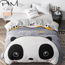 PAPA&MIMA Single duvet cover cotton Panada cartoon Comforter/Quilt/Blanket Queen twin size