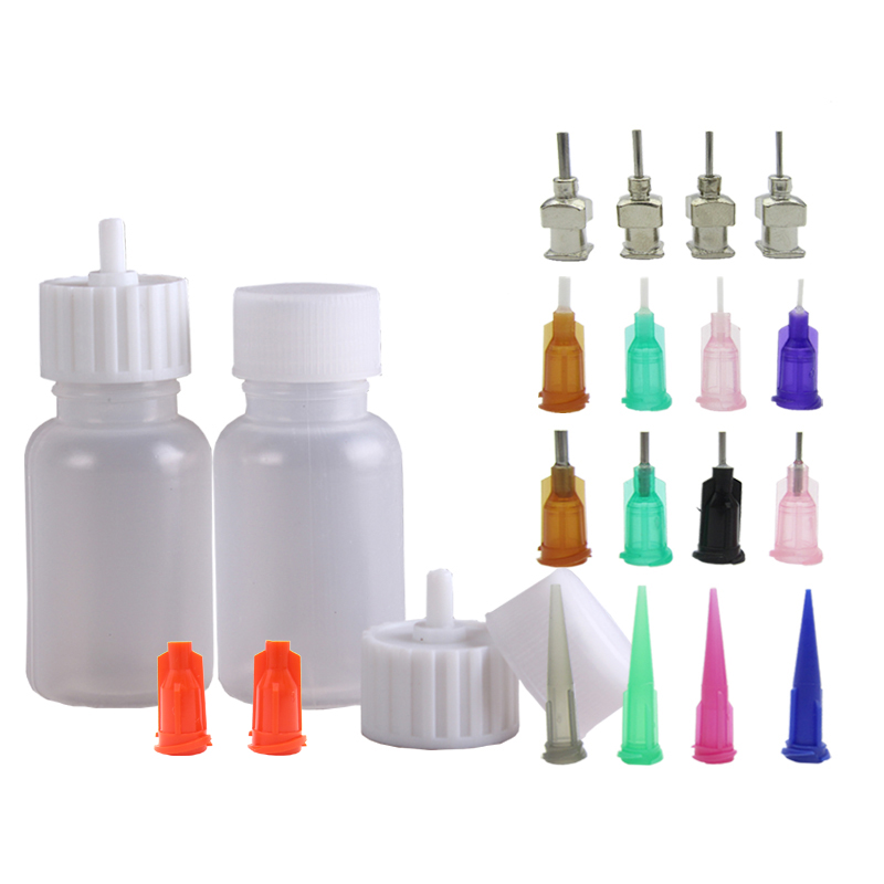1 Set Henna Tattoo Bottle Nozzle Applicator Drawing Labels Bottle With Sealing Cap,Use For Black Henna Tattoo Paste Body Paint