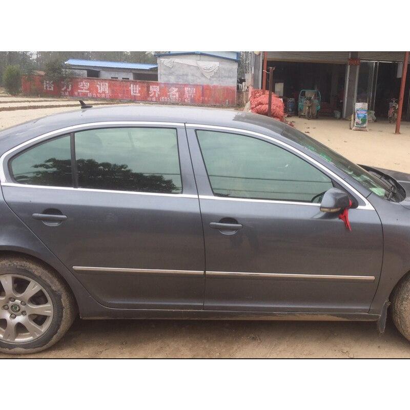 lsrtw2017 304 stainless steel car window trim for skoda octavia 2 octavia a5 2007 2008 2009 2010 2011 2012 2013 2014
