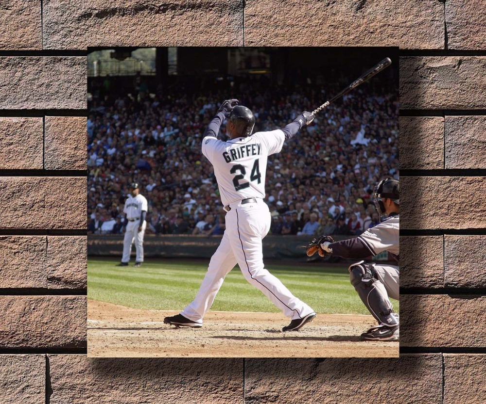 9d7eb668ee Detail Feedback Questions about Y392 Sport Ken Griffey Jr Baseball Hot  Poster Art Canvas Print Decoration 16x16 24x24 27x27inch on Aliexpress.com  | alibaba ...