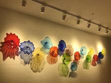 Настенные художественные подвесные тарелки с точечным светом