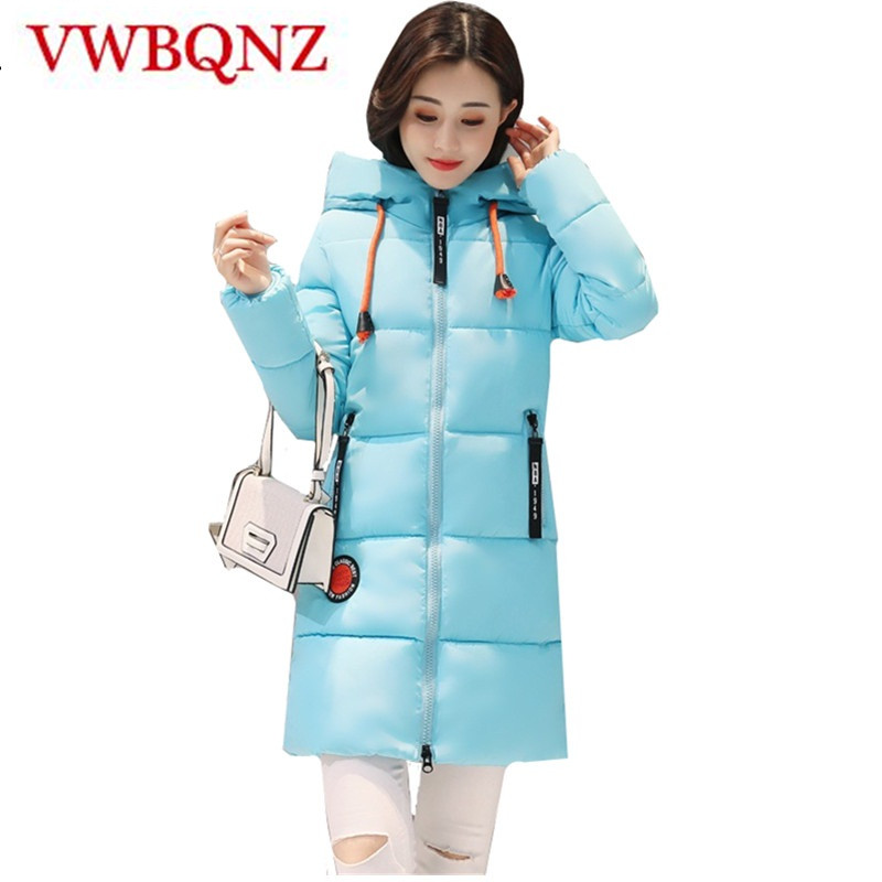Women Winter   Parka   Hooded Jacket Warm Coat Plus Size Slim Medium length Cotton Outerwear Casual Student Jacket Basics Tops 3XL