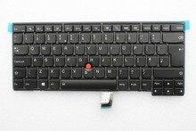 ใหม่เดิมสำหรับIBM Lenovo T Hink P ad T440 T440S T431S T440P T450 T450S T460 Backlitแป้นพิมพ์ภาษาอังกฤษในสหราชอาณาจักร04X0168 04X0130 0C43973