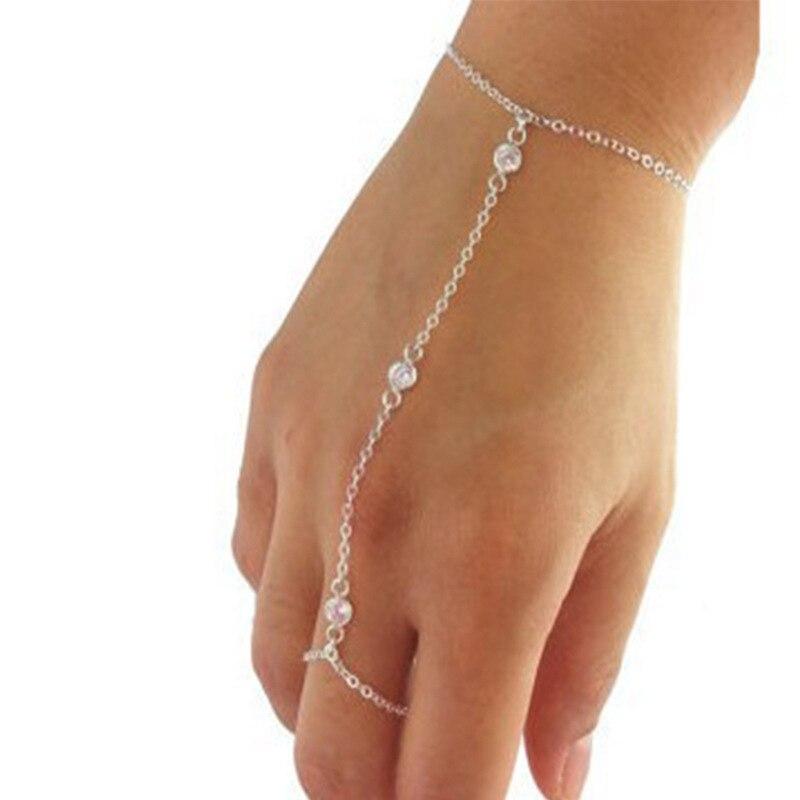 Женский металлический браслет в стиле бохо, золотистого цвета, с кристаллами