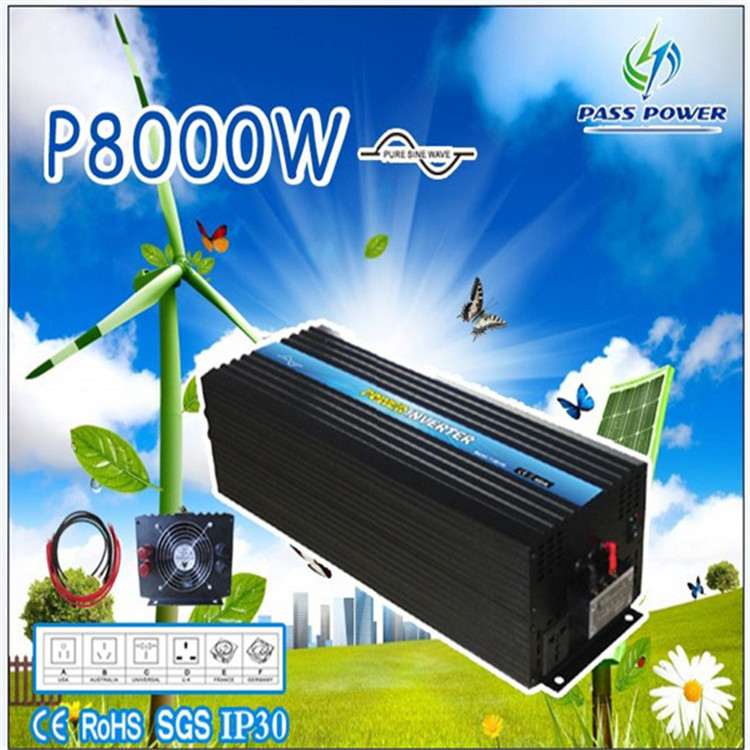 CE RoHS Approved,8000w8kw Power Inverter 48v dc to 220v/230v ac Pure Sine Wave Inverter ,solar inverter, converter