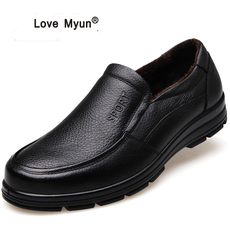 Genuine Leather Shoes Men Brand Footwear Non-slip Thick Sole Fashion Men's Casual Shoes Male High Quality Cowhide Loafers slip on men casual shoes male sandal new fashion genuine leather low heel high quality brand korean style thick bottom plus size