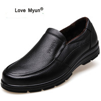 Genuine Leather Shoes Men Brand Footwear Non slip Thick Sole Fashion Men's Casual Shoes Male High Quality Cowhide Loafers