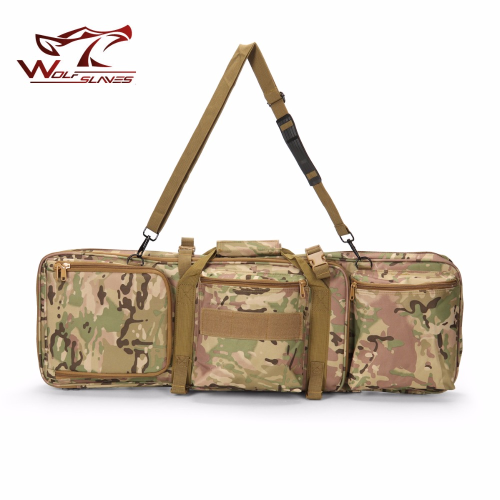 цена на 85cm/33.5'' Airsoft Hunting Backpack Dual Rifle Square Carry Bag with Shoulder Strap Gun Protection Case