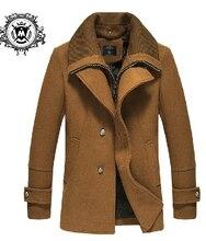 Осень зима мужчины бренд средний — длинная шерсть верхняя одежда пальто приталенный свободного покроя плащ пальто / L-3XL