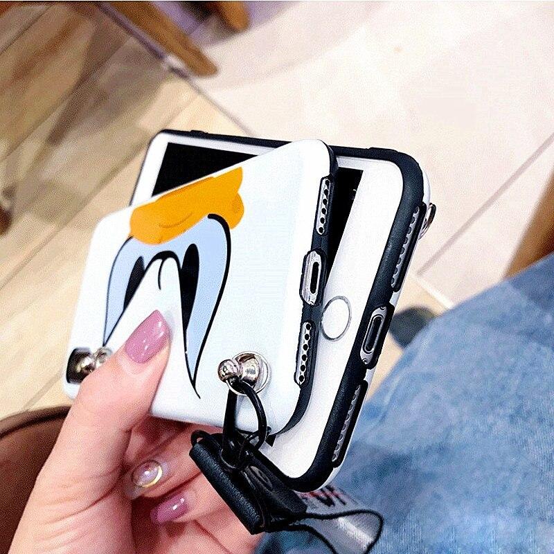 HTB10QBnUkzoK1RjSZFlq6yi4VXaH Cute Cartoon Lanyard crossbody Phone Case For iphone Xs Max Xr X 7 8 6 Plus Soft Silicon TPU cover Phone Bag Shoulder Strap case
