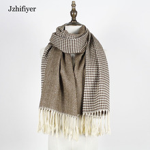 jzhifiyer YX170 scarf designer wool winter scarf women scarves herringbone  long sashmere acrylic shawl tassel pashmina
