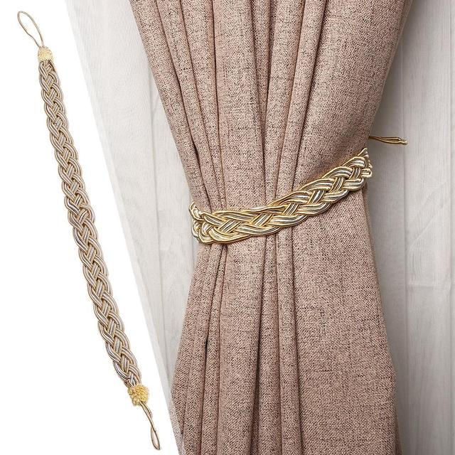 Плетеная занавеска с завязками на веревке, декоративный ремешок, повязки для завязывания