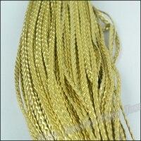 1バンドルdiyジュエリーアクセサリー5ミリメートル広いpuゴールドの色模