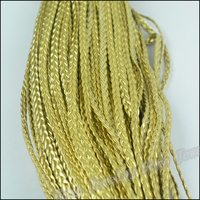 d1e10537b60e8 1 Bundle DIY Jewelry Accessories 5mm Wide PU Golden Imitation Leather Cord  Bracelet Braided Rope Necklace