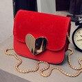2017 New Fashion Mulheres Messenger Bags Ferrolho Coração Couro Fosco Sacos De mulheres Famosas Marcas Mulheres Shoulder Bag Lady Tote Sacos FR323