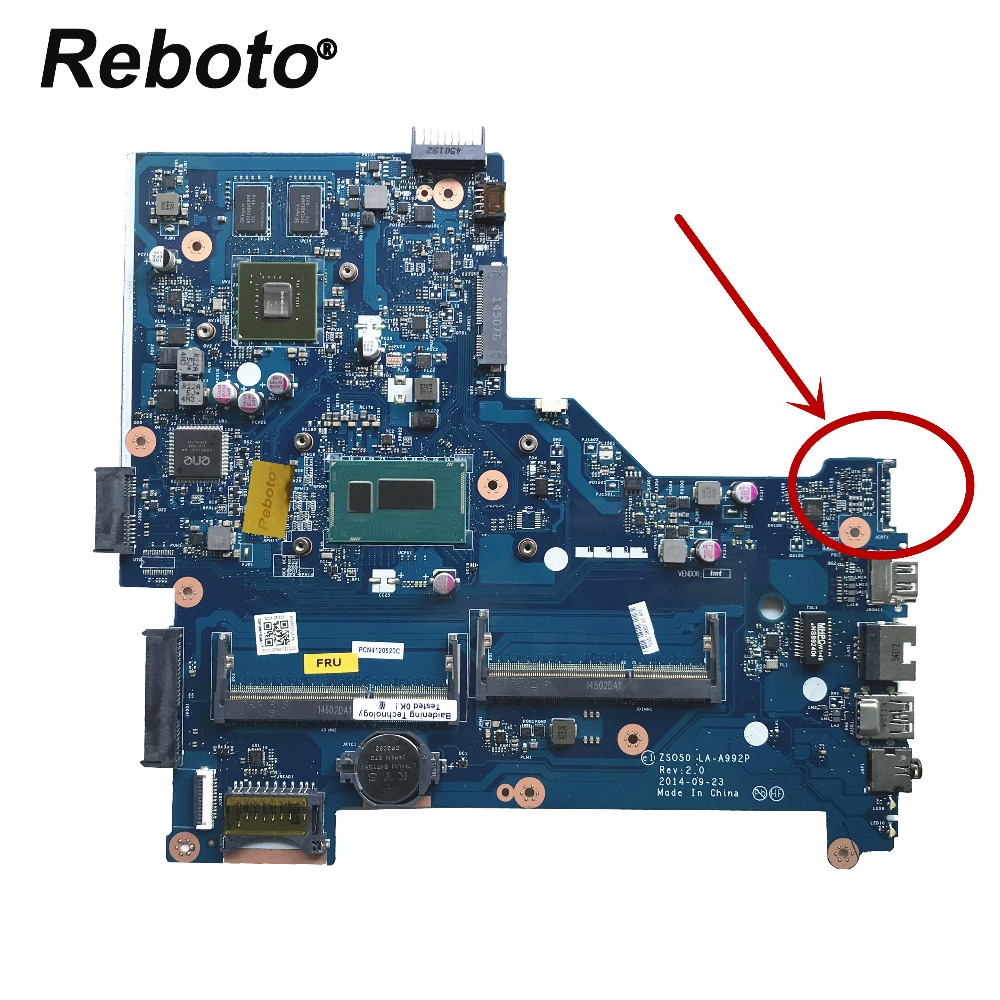 Reboto Hp 15 R ノートパソコンのマザーボード 792302 501 ZSO50 LA A992P と i7 4510u CPU 820 メートル 2 ギガバイトメインボード 100% テスト高速船  グループ上の パソコン & オフィス からの マザーボード の中 1