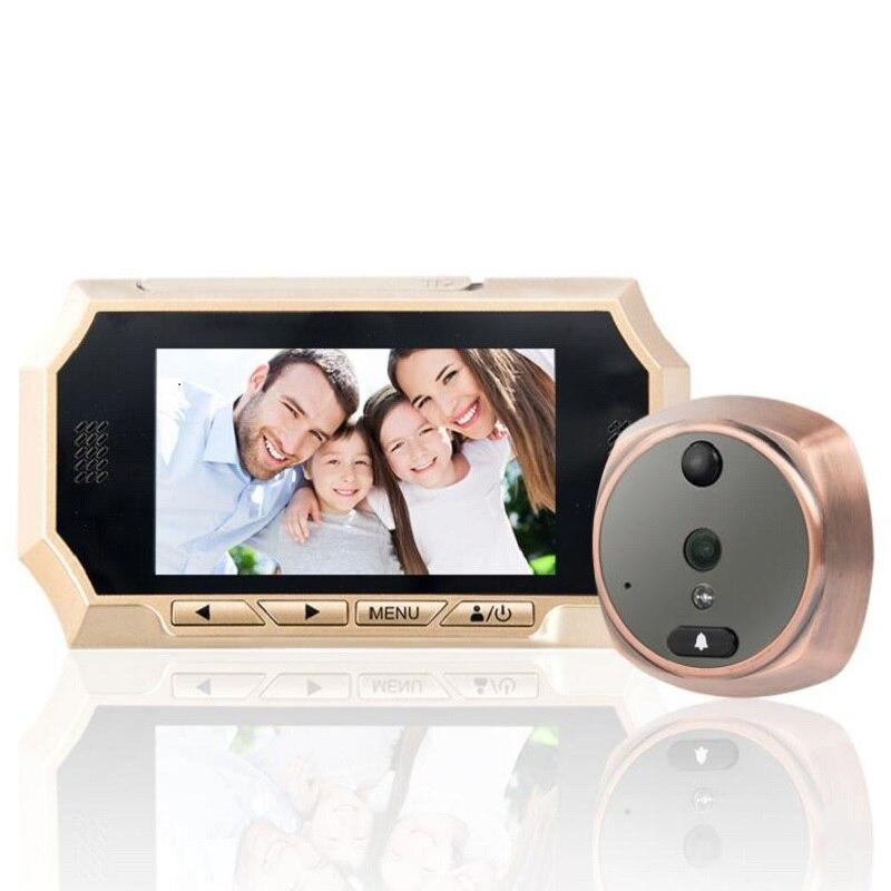 4.3 Intelligent wireless visual doorbell high definition photo recording video intercom monitor camera 720P max supports 32GB